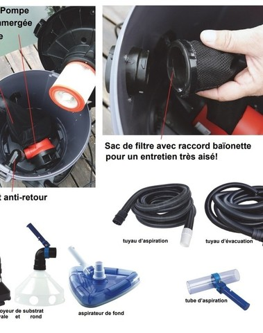 Aspirateur de Bassin Vacuum Cleaner XL
